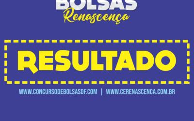 Resultado do Concurso de Bolsas Renascença (Brasília)